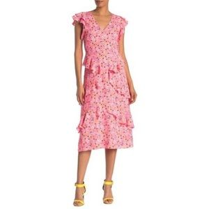 NWT RACHEL Rachel Roy Floral Midi Dress
